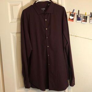 Burgundy Button Down Dress Shirt